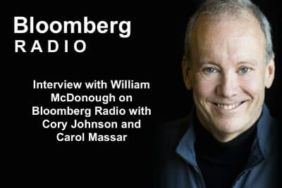 William McDonough Bloomberg Radio