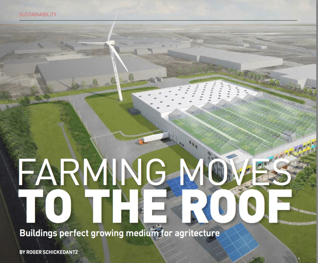 Farming Moves to the Roof by Roger Schickedantz